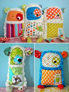Handmade gifts for the kids. Check the link, heaps of cool craft projects! Sewing Toys, Sewing Crafts, Diy Crafts, Sewing Kit, Craft Projects, Sewing Projects, Craft Ideas, Crafts For Kids, Arts And Crafts