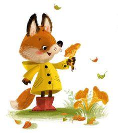 Foxy Fungi by Anna Chernyshova