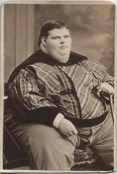 David Navarro Circus Giant Boy Illinois 638 lbs Age 17 c1878 CDV
