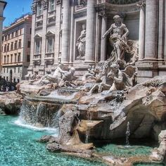 The ancient artifact of Trevi Fountain•