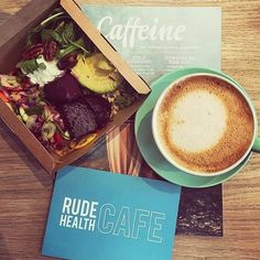 Happy Monday. Looking for a late lunch? We've now got pre-made mixed salad boxes for you to enjoy on the go. #rudehealthcafe 📷 @refinept