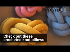 Crocheted knot pillows - YouTube