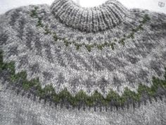 Beautiful subtle colours in this Icelandic sweater.