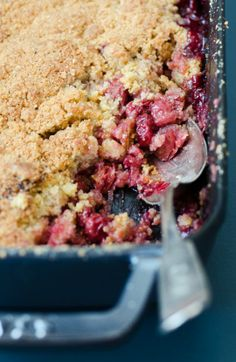 Recipe: Tart Cherry Crumble — Recipes from The Kitchn http://www.thekitchn.com/recipe-cherry-cobbler-recipes-from-the-kitchn-195824 I love thekitchen.com's recipes and explanations