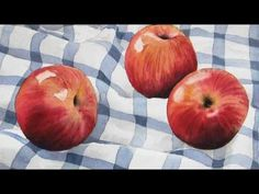 ▶ Apples and Pears, Watercolor Paintings. - YouTube