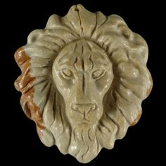 BD02712 100% Natural Hand Carved Gemstone Lion Head by Artiststone