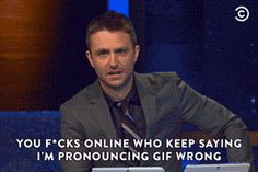 """Chris Hardwick takes the correct stand on how to pronounce """"GIF."""""""