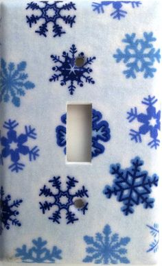 Snowflake Snow Christmas Holiday Light Switch Outlet Plate Decor Decoration. Different plate styles available.