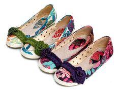 Linen Flower Printed Women Flat Shoes 5575