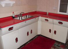 retro kitchen units - I own 23 units of these... One day they'll be restored.
