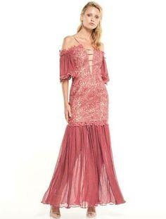 Talulah Fresco Off Shoulder Lace Gown - Azalea Lace Evening Dresses Australia, Australian Fashion Designers, Lace Maxi, Scalloped Lace, Unisex Fashion, Pink Lace, Lace Trim, Fashion Brands, Party Dress