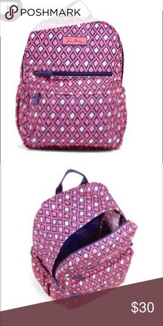 Great backpack 🎒Lighten Up Just Right Backpack In new condition no rips or tears.it is a beautiful pattern my favorite backpack yet.!Lighten Up Just Right Backpack Vera Bradley Other