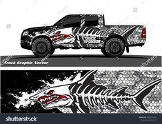 Angry shark face vector decal wrap design for truck and vehicle branding Car Paint Jobs, Astro Van, Racing Car Design, Truck Decals, Samurai Tattoo, Airbrush Art, En Stock, Nose Art, Car Painting