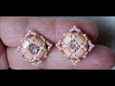 Geek Jewelry, Seed Bead Jewelry, Seed Bead Earrings, Pendant Earrings, Beaded Earrings, Beaded Jewelry, Stud Earrings, Jewelry Necklaces, Earring Tutorial