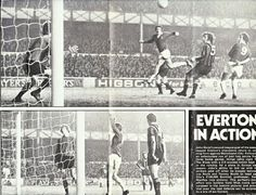 Everton 2 Man City 0 in Dec 1973 at Goodison Park. Action from the Boxing Day clash.