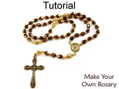 Beading Tutorial Pattern Beaded Rosary by SimpleBeadPatterns