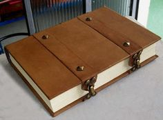 Beautiful book with clasps.