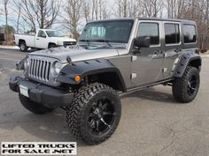 2015 Jeep Wrangler Unlimited Sport Lifted Billet Silver