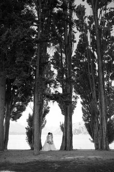 Equally Wed -- Blue New Zealand moutaintop wedding / LGBTQ / mountains / lesbian / two brides / photography / wedding blog / wedding magazine / ocean / water / trash the dress / splash / fun / adventure / travel / romantic / marriage equality / black and white photography / light / trees