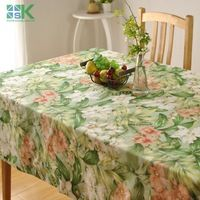 2016 Summer new Thick cotton table cloth fresh leaf flower fashion home hotel drape factory outlets American country style , fre