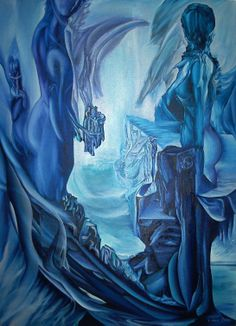 Farewell to level Earth Size: 150 x 100 cm, oil on canvas