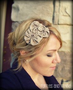 Items similar to Headband for Women, Rosette Trio Flower Cluster Headband in Oatmeal for Adult and Girl on Etsy Vintage Headbands, Cute Headbands, Handmade Headbands, Diy Headband, Headbands For Women, Headband Hairstyles, Diy Hairstyles, Flower Band, How To Make Headbands