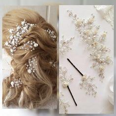 Long hair vine,wedding hair pins,Bridal hair vine,hair vine wedding,Spring Bridal Wedding, Bridal Hair Vine,Wedding hair-vine,hair pins