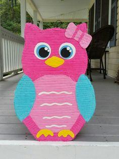 Owl pinata, owl birthday party, owl party, owl birthday, baby first birthday… Owl Themed Parties, Owl Parties, Owl Birthday Parties, Birthday Party Decorations, Second Birthday Ideas, Baby First Birthday, Girl Birthday, Owl 1st Birthdays, Gender Reveal Pinata