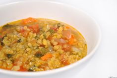 Lencseleves indiai módra ~ Receptműves Vegetable Dishes, Chana Masala, Cheeseburger Chowder, Risotto, Soup Recipes, Vegetables, Cooking, Ethnic Recipes, Soups