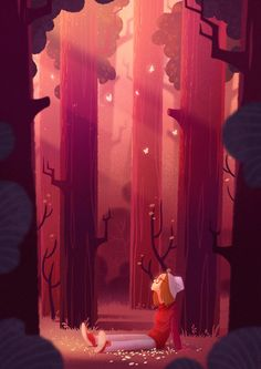 within the forest by Dima Argumentum, through Behance illustration obtain Environment Concept Art, Environment Design, Art And Illustration, Woodland Illustration, Bg Design, Animation Background, Environmental Art, Art Plastique, Fantasy Art