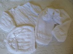 Knitted Christening or Coming Home Baby Set READY TO by Pitusa, $73.00