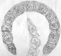 Byzantine Icons, Byzantine Art, Stencil Patterns, Lace Patterns, Pencil Drawing Tutorials, Pencil Drawings, Icon Design, Design Art, Gothic Pattern