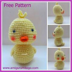 crochet yellow duck ... FREE pattern