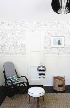Wallpaper in modern nursery - #nurserydesign