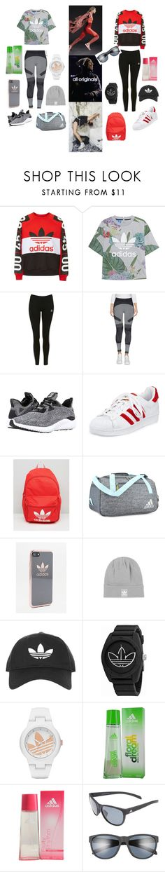"""ADIDAS 2 SET"" by dannynoche ❤ liked on Polyvore featuring adidas, adidas Originals and Topshop"