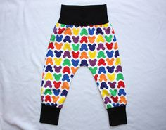 Colorful Mouse Shapes Baby Toddler Harem Pants Made to by HiCheeky