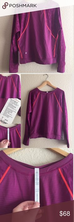 $98 NEW! 🎀 LULULEMON RUN FOR DAYS LS Shirt Top, 8 New with tags! 💗💗💗 AX20T516PA1 lululemon athletica Tops Tees - Long Sleeve
