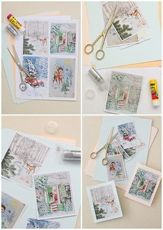 Vintage Christmas Card Making by cafe noHut, via Flickr