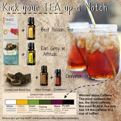 Great idea- add essential oils to tea for delicious and healthy treat! From Honeycomb Mama www.onedoterracommunity.com https://www.facebook.com/#!/OneDoterraCommunity