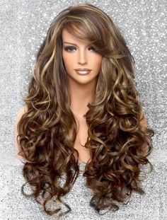 Brown Wigs Lace Hair Blonde Wig Cute Hairstyles Lange Straightener Hairstyles For Long Straight Hair Long Thin Hairstyles Human Hair Lace Front Wigs With Baby Hairline 360 Wigs Wig Styling, Curly Hair Styles, Natural Hair Styles, Natural Wigs, Long Wigs, Lace Hair, Hairstyles With Bangs, Model Hairstyles, Hairstyle Ideas