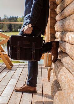 a5ff97c18a89d Genuine leather bags owner. Obserwuj. Skórzana torba męska na ramię Solier  SL14 HIKE