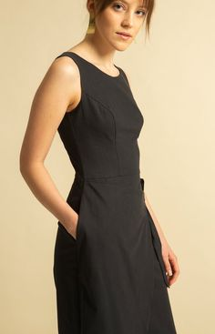 Sand Dress Coal Black - TAUKO Wrap Jumpsuit, Sustainable Fashion, Slim, Skirts, Collection, Black, Dresses, Vestidos, Skirt