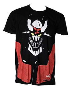 Mazinger Black Camiseta Negra de Hombre de algodón y Pintura orgánica. Talla XL(75/58 cm) Berlato Neck T Shirt, Classic Style, Mens Tops, Shirts, Fashion, Black T Shirt, Cotton T Shirts, Black Men, Pintura