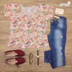 É cada roupa linda chegando na @loja_amei  Direto da fabriqueta amei ✂️✏️❤️ #lojaamei #etiquetaamei #blusa #alpargata #calçajeans #lindo #novidades