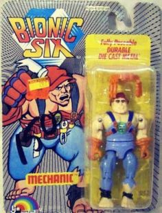 Bionic Six Mechanic Action Figure #1980s #80s #BionicSix #ActionFigure
