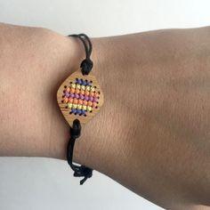 Cross stitch pendant blank diamond connector pendant in by Beadeux
