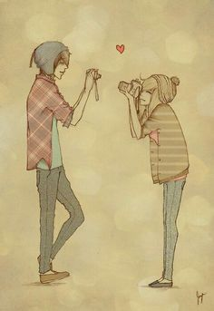 Immagini del profilo shared by TheDillaChan on We Heart It Couple Drawings, Art Drawings, Pencil Drawings, Photo Manga, Image Beautiful, Dibujos Cute, Cute Anime Couples, Emo Couples, Anime Love