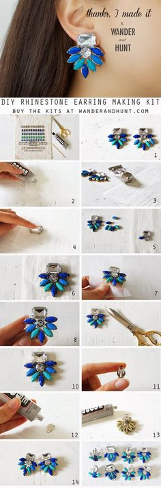 DIY Statement Earring Kit-- The Tutorial