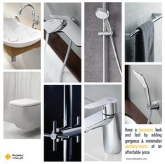 Have a luxurious look and feel by adding these gorgeous & minimalist sanitary-wares at an affordable price. Bath Seats, Basins, Taps, Pakistan, Bathtub, Minimalist, Shower, Facebook, Website