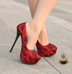 """Hot Pumps """"Red Flower"""" - I Love Shoes, Bags & Boys"""